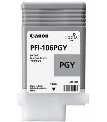 Canon PFI-106PGY LUCIA EX PHOTO GREY INK FOR IPF6300IPF6300SIPF6