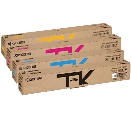 Kyocera TK-8119 4-Pack C/M/Y/BK Toner Kit Bundle